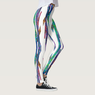 Jewel Color Linear Leggings