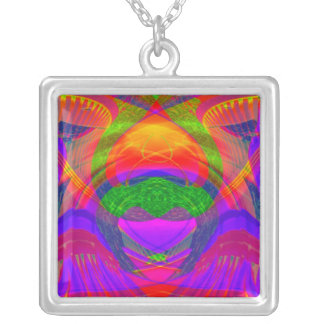JEWEL COLORS ABSTRACT LARGE NECKLACE