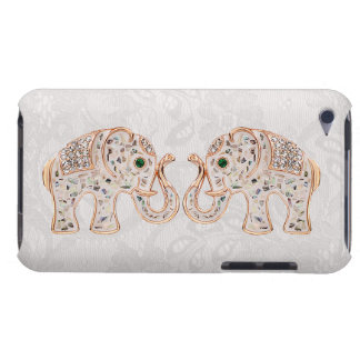 Jewel Elephants Photo & Paisley Lace iPod Touch iPod Touch Case-Mate Case