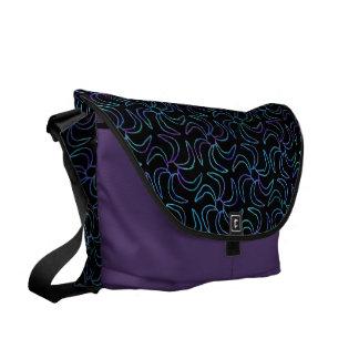 Jewel Flower Messenger Bag Purple Blue