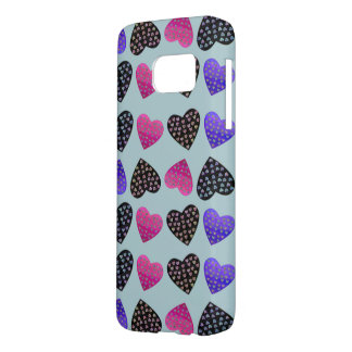 Jewel Heart Pattern Samsung Galaxy S7 Case