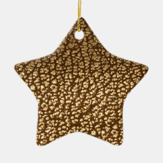 Jewel like texture on leather background template ceramic star ornament