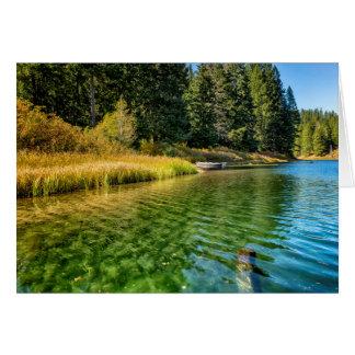 Jewel Like Tones of Clear Lake Card
