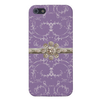 Jewel Look Silver Bling Octagonal Diamond Swirls Case For iPhone 5/5S