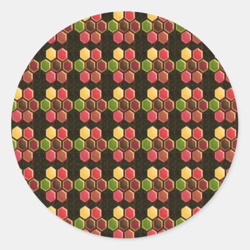 Jewel Pearls HEXAGONS NVN300 FUN DECO shades glow Round Stickers