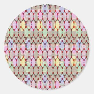 Jewel Pearls Spectrum  NVN299 FUN DECO shades glow Round Sticker