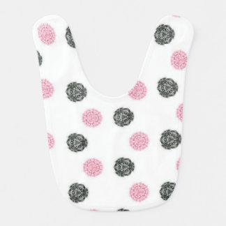 Jewel polka dot baby bib