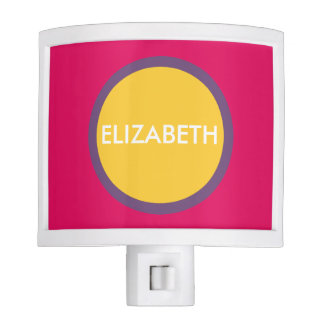 Jewel Polka Dots on Pink Personalized Nite Lite