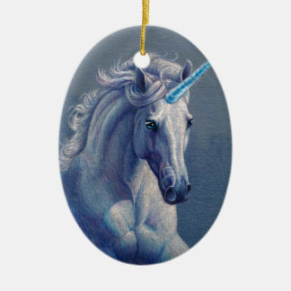 Jewel the Unicorn Ceramic Ornament