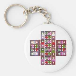 Jewel Thief Basic Round Button Keychain