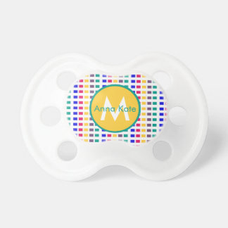 Jewel Tiles on White Monogram Pacifiers