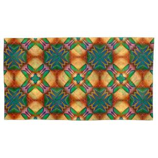 Jewel Tone Blue Green Kaleidoscope Mandala Pillowcase