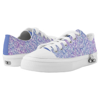 Jewel Tone Glitch Low-Top Sneakers