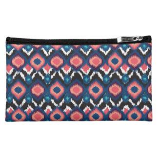 Jewel Tone ikat Medium Cosmetic Bag