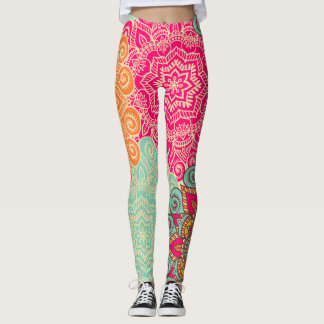 Jewel Tone Mandala Custom Women's Leggings