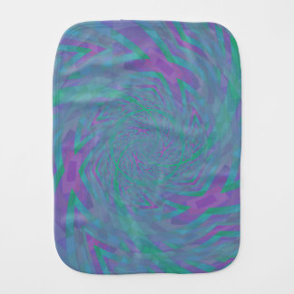 Jewel Tone Spiral Burp Cloth