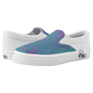 Jewel Tone Spiral Slip-On Sneakers