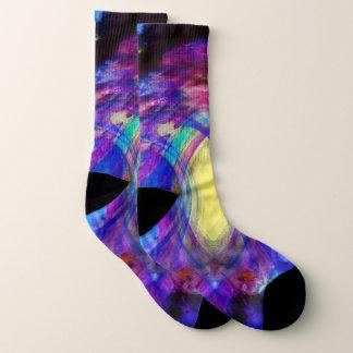 Jewel-toned abstract socks 1