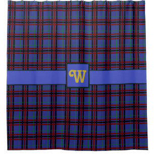 Jewel Toned Plaid Shower Curtain