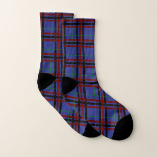 Jewel-Toned Plaid Socks 1
