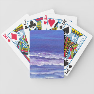 Jewel toned sunset ocean waves seascape gifts bicycle playing cards