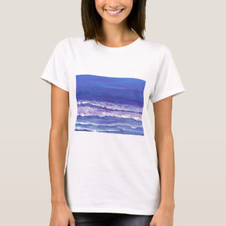 Jewel toned sunset ocean waves seascape gifts T-Shirt