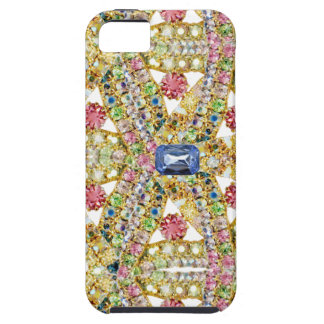 Jeweled Abstract Design Customize Case For The iPhone 5