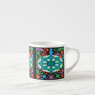 Jeweled Aqua Espresso Cup