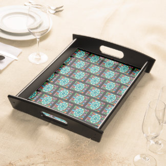 Jeweled Aqua Serving Tray