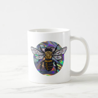jeweled bee coffee mug