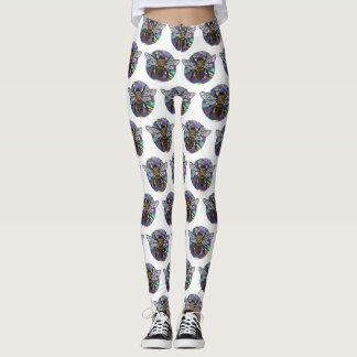 jeweled bee leggings