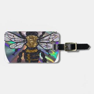 jeweled bee luggage tag