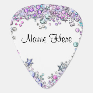 Jeweled border Custom Guitar Pick