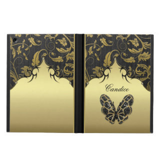 Jeweled Butterfly Damask Case For iPad Air