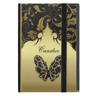 Jeweled Butterfly Damask iPad Mini Case