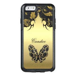 Jeweled Butterfly Damask OtterBox iPhone 6/6s Case