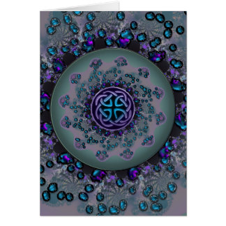 Jeweled Celtic Fractal Mandala Card