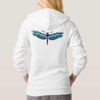 Jeweled Dragonfly Fleece Pullove Hoodie