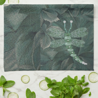 Jeweled Dragonfly Kitchen Towel