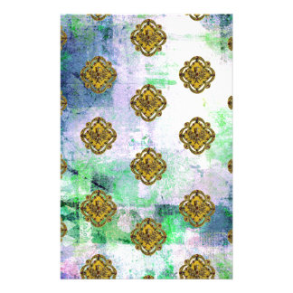JEWELED EAGLE CREST PATTERN CUSTOM STATIONERY