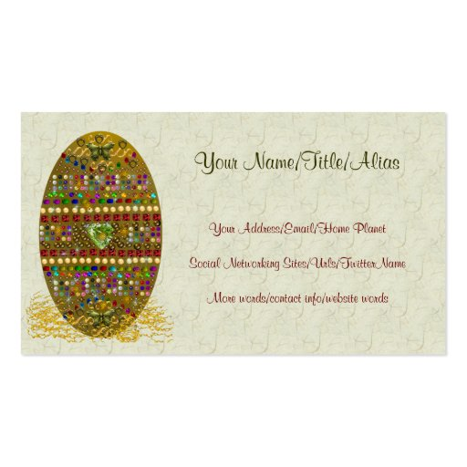 Jeweled Easter Egg Business Cards