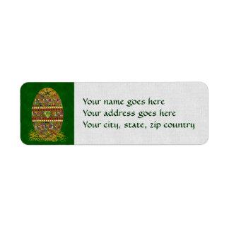 Jeweled Easter Egg Return Address Label
