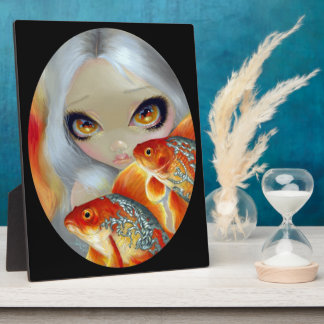 """""""Jeweled Fish:  Silver and Gold"""" Plaque"""