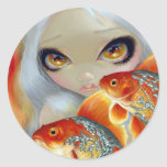 """""""Jeweled Fish:  Silver and Gold"""" Sticker"""