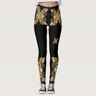 Jeweled Flowers Fashion Leggings-Women Leggings
