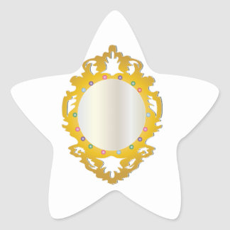 Jeweled Framed Mirror Star Sticker