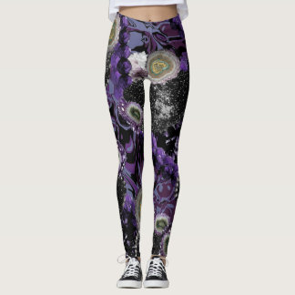 Jeweled In Purple Leggings