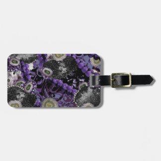 Jeweled In Purple Luggage Tag