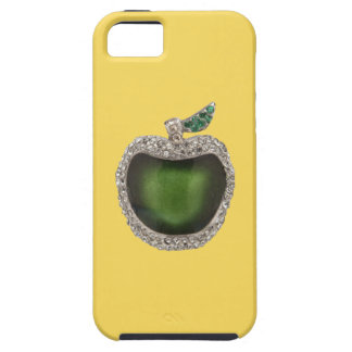 Jeweled Jade Green Apple Art Case For The iPhone 5