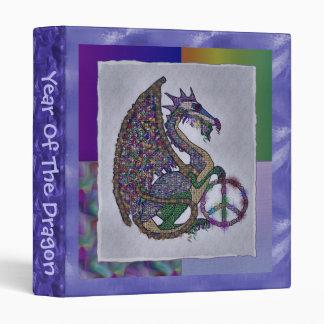 Jeweled Peace Dragon 3 Ring Binder